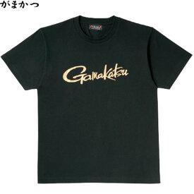 がまかつ Tシャツ (筆記体ロゴ) ブラック GM-3576 (フィッシングシャツ)