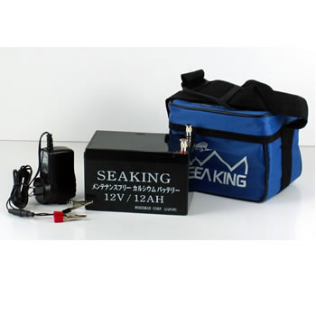シーキング バッテリー (12V12Ah) 電動リール 魚探 釣り バッテリー 【釣り具】