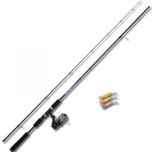 エギング セット ダイレクト エギングセットII 8.0ft (PEライン1号-100m付き)(釣り竿 リール ライン エギ付 初心者 釣り具)(大型商品A)