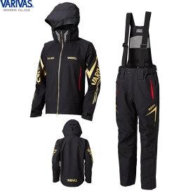 バリバス VARIVAS DARスーツ ブラック VARS-11 (レインウェア レインスーツ 上下セット)