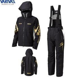 バリバス VARIVAS DARスーツ ブラック/グレー VARS-11 (レインウェア レインスーツ 上下セット) 3L