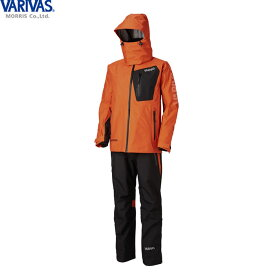 バリバス VARIVAS DAAレインスーツ オレンジ VARS-12 (レインウェア レインスーツ 上下セット)