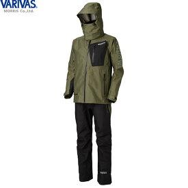 バリバス VARIVAS DAAレインスーツ カーキ VARS-12 (レインウェア レインスーツ 上下セット) 3L