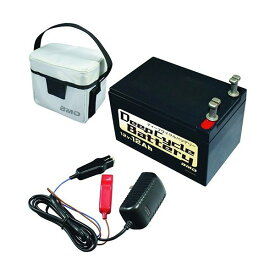 BMO ディープサイクルバッテリー 本体、充電器、バッグ 3点セット 12V12Ah (釣り 電動リール バッテリー)