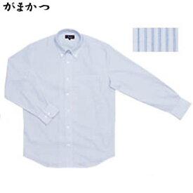 がまかつ ファスナーシャツ ライトブルー/ストライプ GM-3285 (シャツ・Tシャツ)