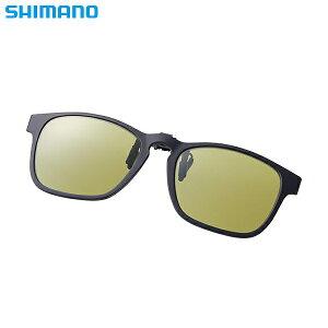 シマノ シマノクリップオングラス ブラック/イエロー UJ-401S (偏光サングラス 偏光グラス 釣り メンズ)