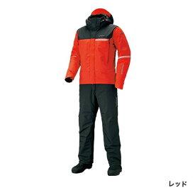 シマノ DSアドバンスウォームスーツ レッド RB-025S (防寒着 上下セット 釣り)