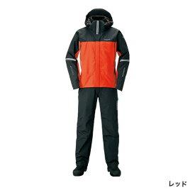 シマノ DSアドバンスプロテクティブスーツ レッド RT-025S (防寒着 上下セット 釣り)