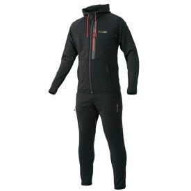 がまかつ スウェットスーツ ブラック GM-3590 (防寒着 上下セット 釣り)