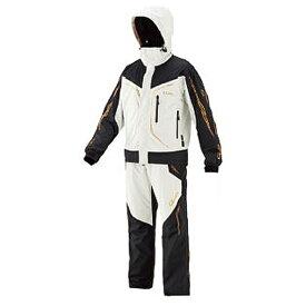 がまかつ ゴアテックス(R)オールウェザースーツ ホワイト GM-3611 (防寒着 上下セット 釣り)