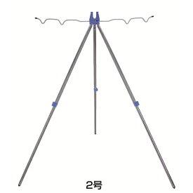 プロトラスト アルミ三脚 レバー式 2号 ブルー PT-5020 (竿掛け 三脚 ロッドスタンド)