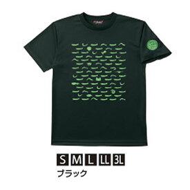 がまかつ Tシャツ(ちりめん) ブラック GM-3604 (Tシャツ)