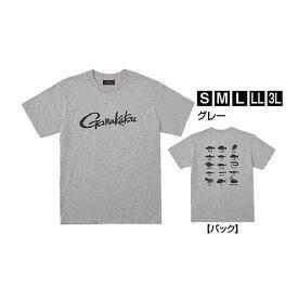 【12月1日限定ポイント5倍】がまかつ Tシャツ(筆記体ロゴ) グレー GM-3576 (Tシャツ)