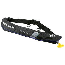 アルファタックル ライフジャケット ウエストベルトタイプ ブラック (自動膨張 ライフジャケット 桜マーク 国土交通省認定)