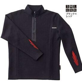 がまかつ アノラックジップシャツ ブラック/レッド GM-3653 (フィッシングシャツ・Tシャツ)