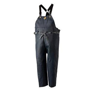 ロゴス クレモナ水産 胸当付ズボン(サスペンダー式) 鉄紺 10062 (水用作業着)