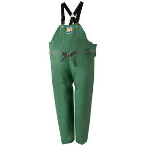 ロゴス マリンエクセル 胸当付ズボン膝当て付(サスペンダー式) グリーン 12063 (水用作業着)