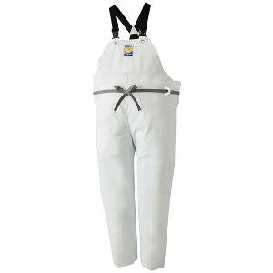 ロゴス マリンエクセル 胸当付ズボン膝当て付(サスペンダー式) ホワイト 12063 (水用作業着) 3L