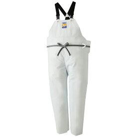 ロゴス マリンエクセル 胸当付ズボン膝当て付(サスペンダー式) ホワイト 12063 (水用作業着)