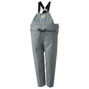 ロゴス マリンエクセル 胸当付ズボン膝当て付(サスペンダー式) グレー 12063 (水用作業着)