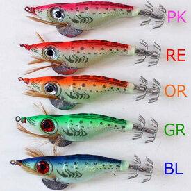 釣具 エギング 仕掛け 夜光エギ 全長約10cm 自重約12g 1色 5本 色選択できます R20egiDY1C