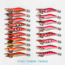 釣具 仕掛け 夜光 エギ 3.0号 18柄 18個 セット ピンク系 オレンジ系 R20egi30hp18C エギング イカ釣り用 餌木