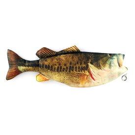 オルルド釣具 魚型 小物入れ ポーチ ペンケース ブラックバス