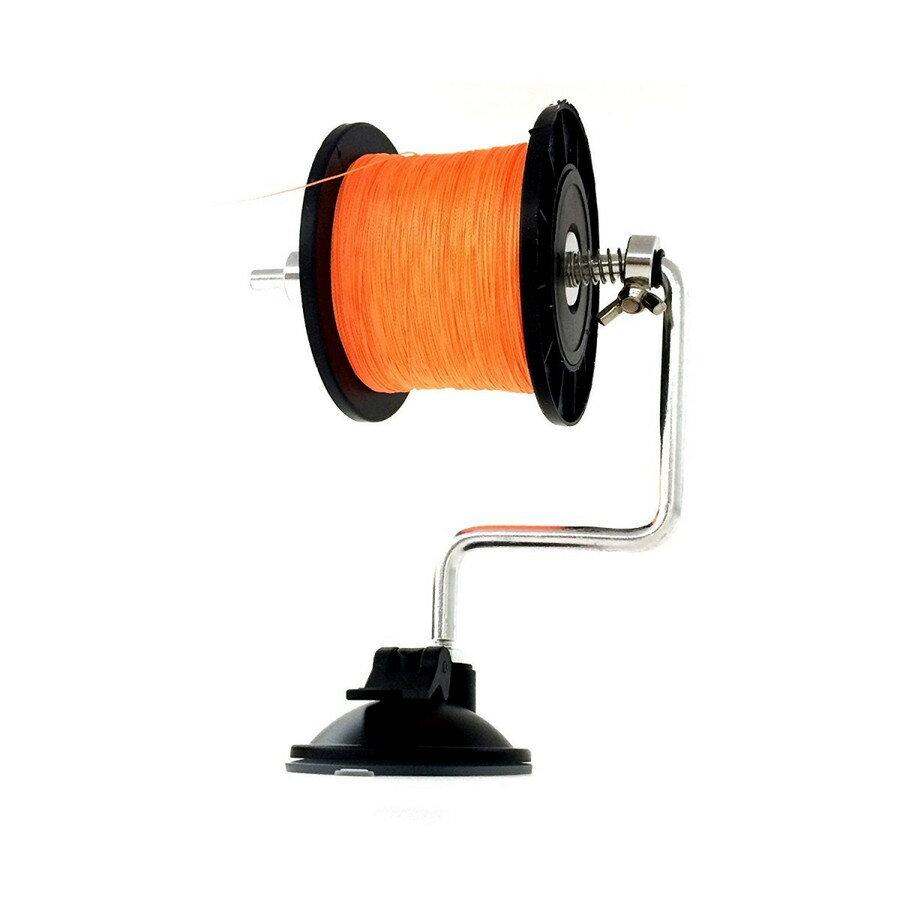 オルルド釣具 ライン巻 ラインワインダー シルバー レバー式強力吸盤付 テーブル等に固定して楽々ライン巻き 釣糸 巻き器
