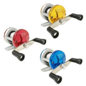 オルルド釣具 軽量両軸リール puchi-TL100 2号糸付 3カラー レッド / ブルー / ゴールド