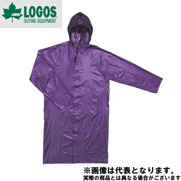 【ロゴス】バックレタードPVCレインコート フリー ブルー(38112159)