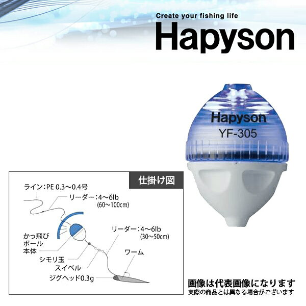 【ハピソン】YF-307-B かっ飛びボール SS 青