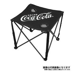 【ドウシシャ】コカコーラ コンパクトテーブル ブラック コカ・コーラ 折り畳みテーブル キャンプ アウトドア(CC-Q1803B)