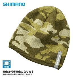 CA-084R ニットワッチ カーキサファリカモ フリー シマノ 釣り 防寒着 帽子 防寒