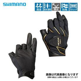GL-183R ネクサス 防風フィットマグネットグローブ3 ブラック XL シマノ 釣り 防寒着 手袋 防寒
