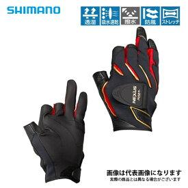 GL-183R ネクサス 防風フィットマグネットグローブ3 レッド L シマノ 釣り 防寒着 手袋 防寒