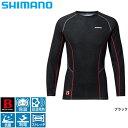 【シマノ】IN−040N ブレスハイパー+℃・ストレッチアンダーシャツ(中厚タイプ) ブラック M