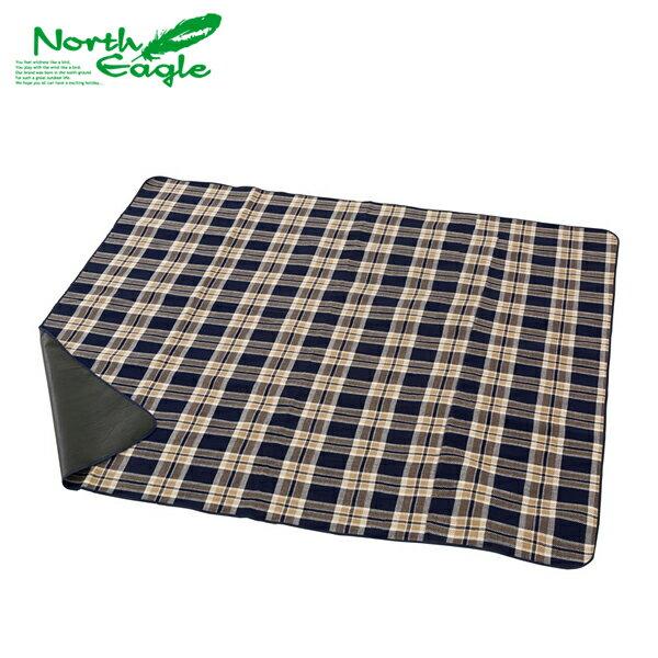 【ノースイーグル】アクリル行楽シート150 チェック(NE299)