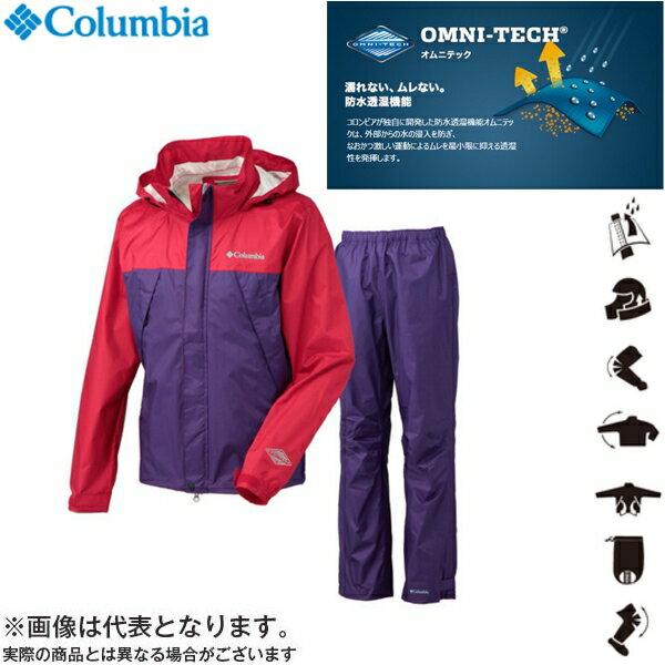 【コロンビア】◆ グラスバレーレインスーツ 691 ブライトレッド XLサイズ(PM0023)