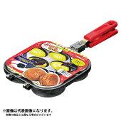 【パール金属】おやつDEっSEふっ素加工大判焼器4穴(D-420)