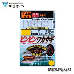 【ガマカツ】ピンピンワカサギ赤虫ヘッド7本2.5-0.3