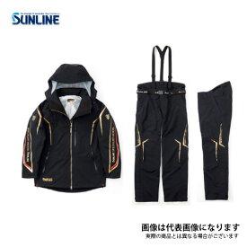 【在庫処分特価】 DIAPLEXウォームアップスーツ ブラック 3L SUW-1803 サンライン