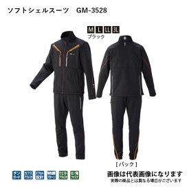 7/10はP最大45倍★ソフトシェルスーツ ブラック 3L GM3528 がまかつ 【処分特価】