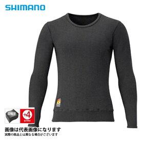 ブレスハイパー+℃ストレッチアンダーシャツ ブラック 超極厚タイプ Lサイズ IN-030R シマノ 釣り 防寒着 インナー 防寒 【処分特価】