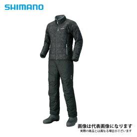 ベーシックインシュレーションスーツ オーアブラック 2XL MD-055Q シマノ 釣り 防寒着 上下セット 防寒 【処分特価】