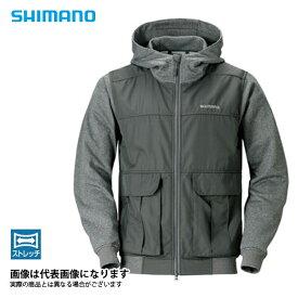 ライトスウェットフルジップパーカー タングステン M JA-074R シマノ 釣り 防寒着 ジャケット 防寒 【処分特価】