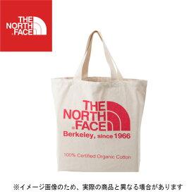 TNFオーガニックコットントート CP(ナチュラル×コーラルピンク) NM81616 ノースフェイス エコバッグ バッグ トートバッグ 大きめ