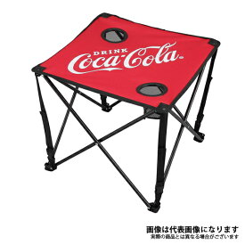 コカコーラ コンパクトテーブル レッド コカ・コーラ 折り畳みテーブル キャンプ アウトドア CC-Q1803R ドウシシャ テーブル アウトドア キャンプ 用品 道具