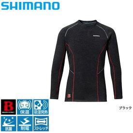 ブレスハイパー+℃・ストレッチアンダーシャツ(極厚タイプ) ブラック L IN-020N シマノ 釣り 防寒着 インナー 防寒 【処分特価】