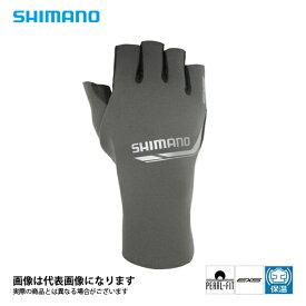 パールフィットEXSグローブ5(5本指出し) [ GL-092N ] グレーシルバー XL シマノ 釣り 防寒着 手袋 防寒 【処分特価】