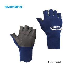 パールフィットEXSグローブ5(5本指出し) [ GL-092N ] ネイビーシルバー L シマノ 釣り 防寒着 手袋 防寒 【処分特価】
